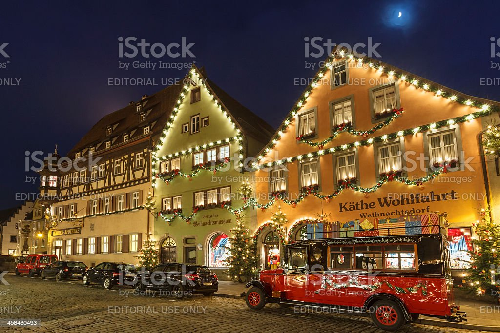 Käthe Wohlfahrt Store in Rothenburg ob der Tauber royalty-free stock photo