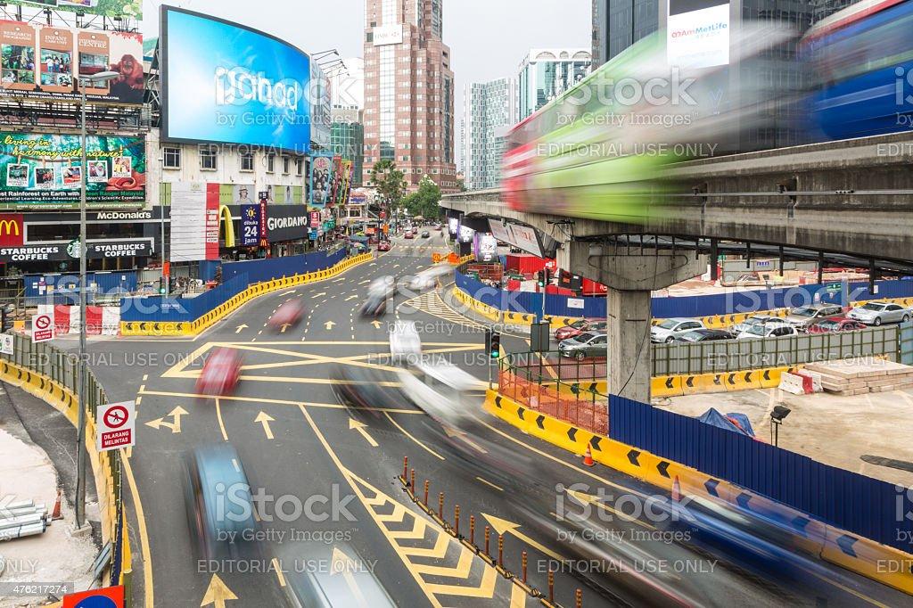 Kuala Lumpur Bukit Bintang intersection stock photo