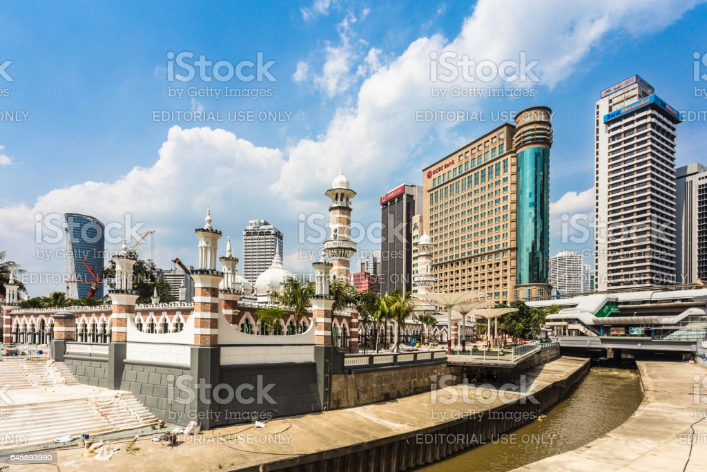 Kuala Lumpur business district skyline in Malaysia capital city stock photo