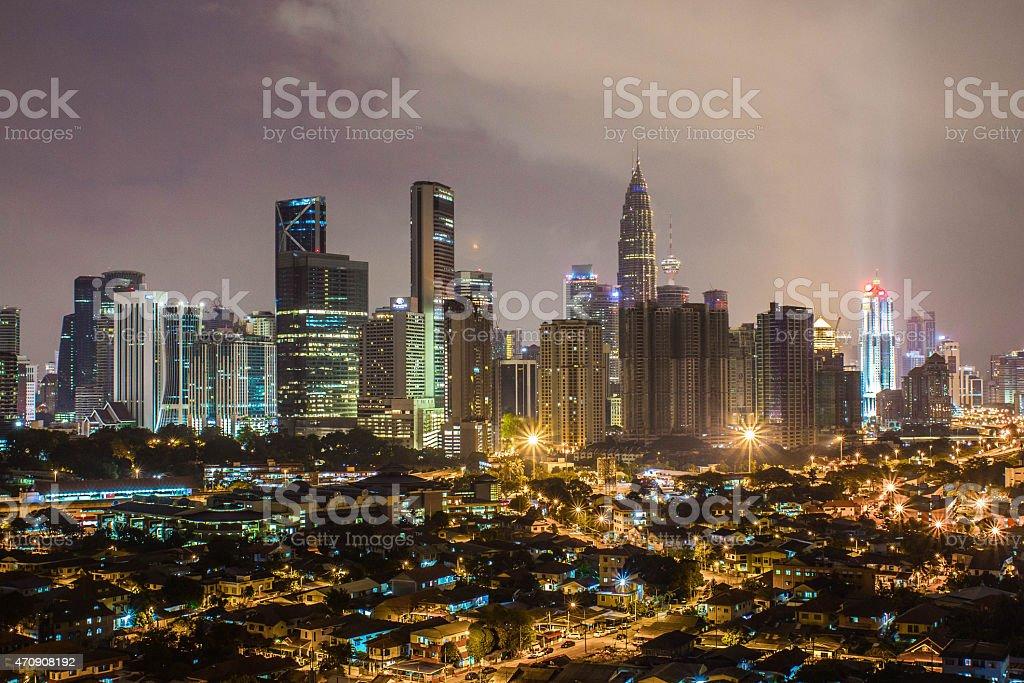 Kuala Lumpur City at Night royalty-free stock photo
