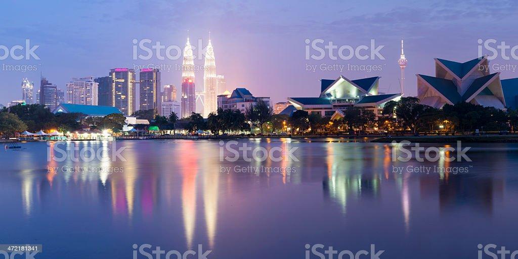 Kuala Lumpur City Skyline at Night Malaysia stock photo