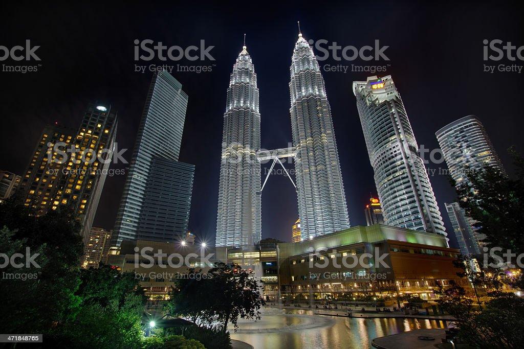 Kuala Lumpur Cityscape at Night royalty-free stock photo