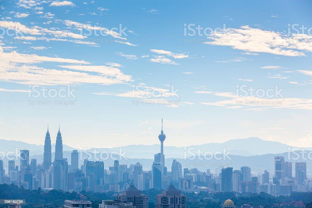 Kuala Lumpur cityscape at noon stock photo