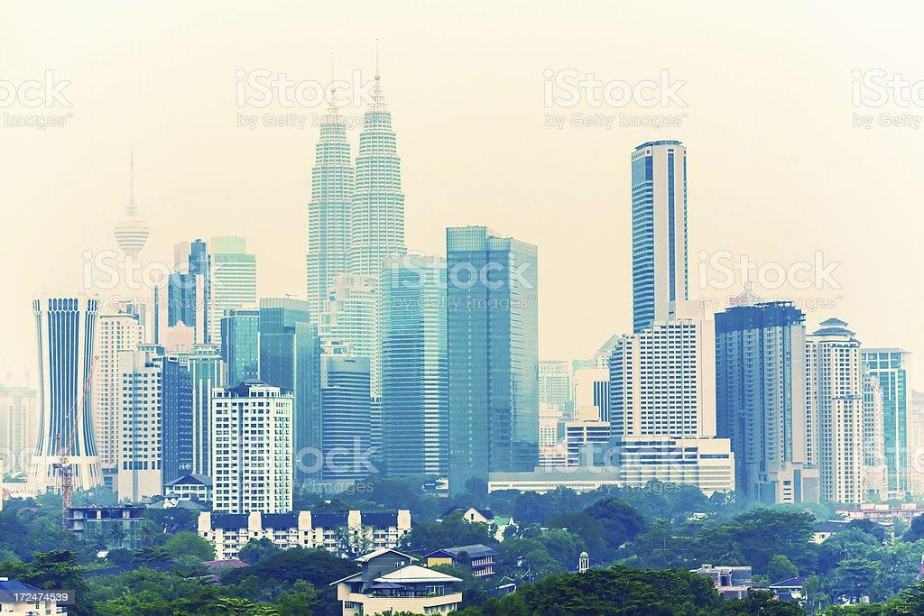 Kuala Lumpur Downtown Cityscape, Malaysia royalty-free stock photo