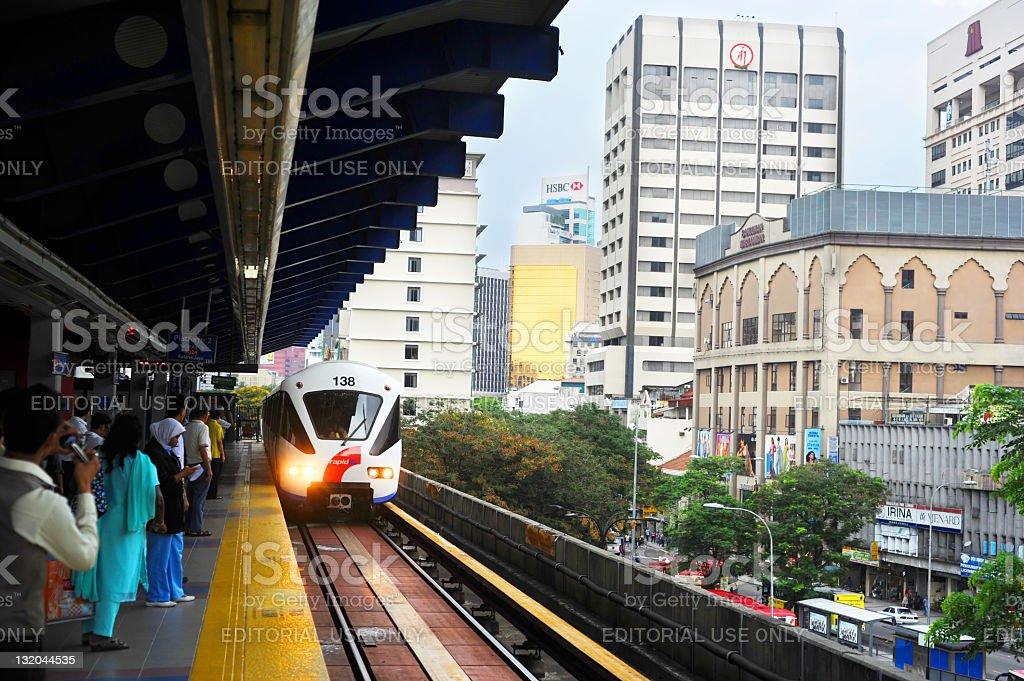 Kuala Lumpur LRT royalty-free stock photo