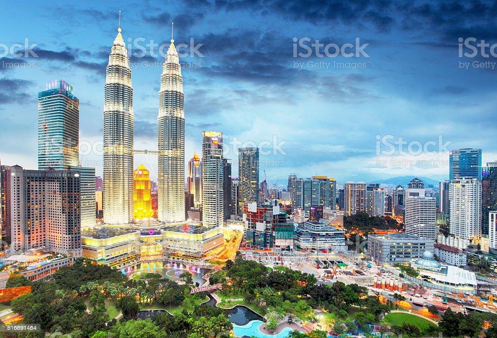 Kuala Lumpur, Malaysia skyline. stock photo