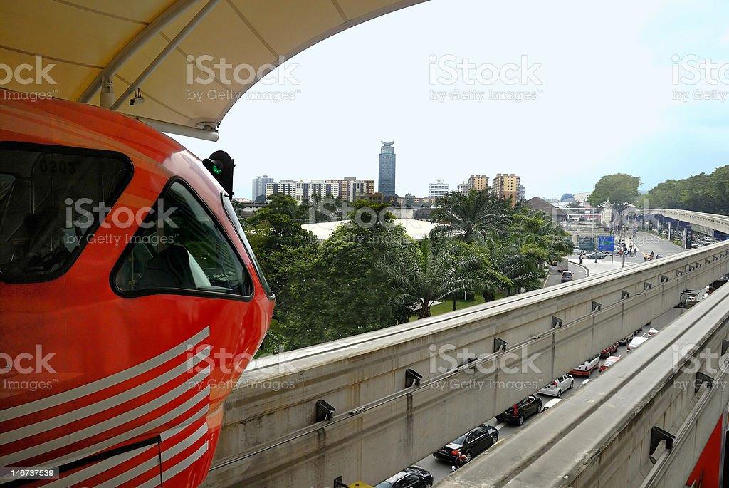 Kuala Lumpur Monorail, Malaysia royalty-free stock photo