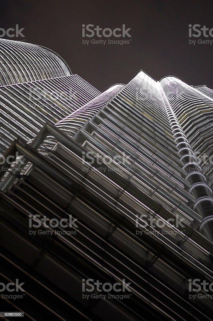 Kuala Lumpur Petronas Tower Detail royalty-free stock photo
