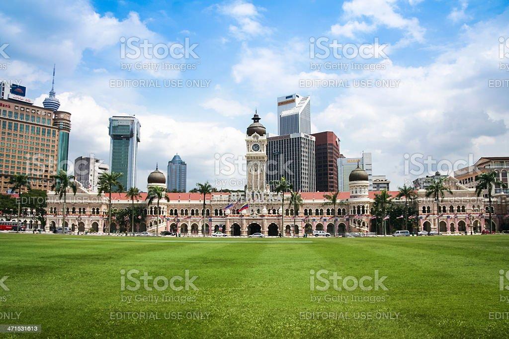 Kuala Lumpur skyline Dataran Merdeka Malaysia royalty-free stock photo