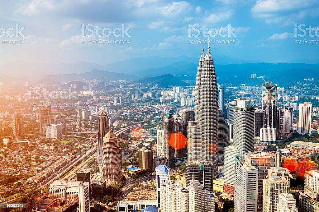 Kuala Lumpur Skyline - Malaysia stock photo