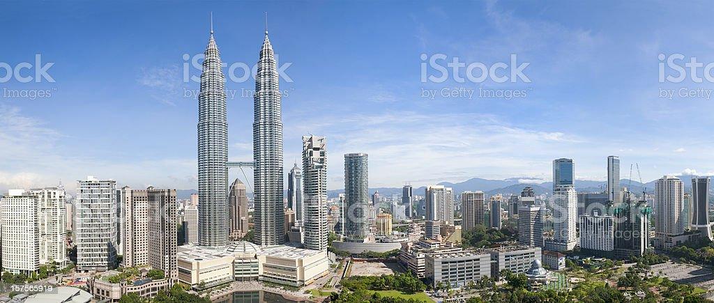 Kuala Lumpur Skyline Panorama stock photo