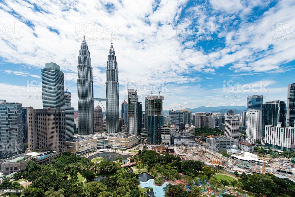 Kuala Lumpur Skyline stock photo