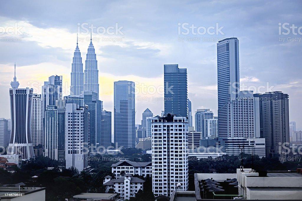 Kuala Lumpur, sunrise royalty-free stock photo