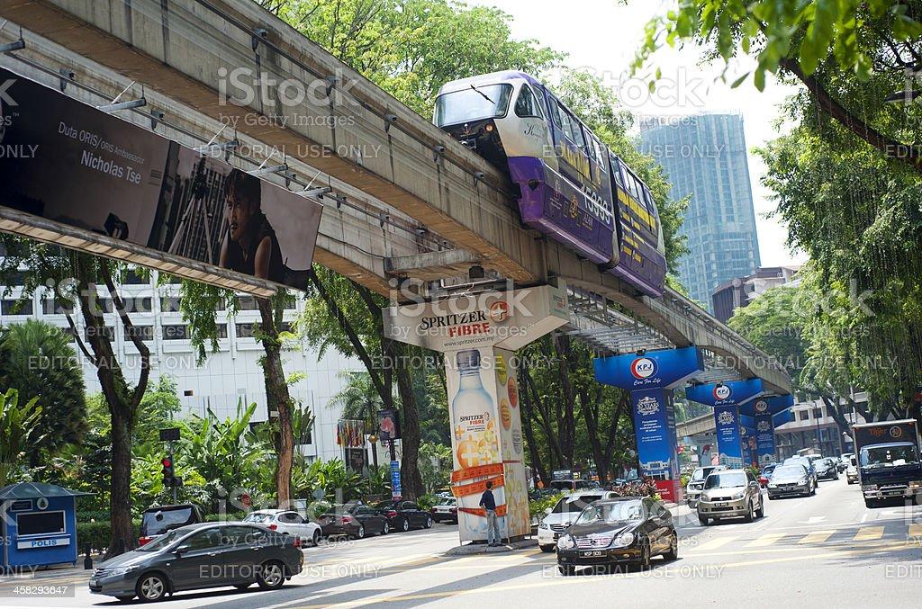 Kuala Lumpur transport royalty-free stock photo