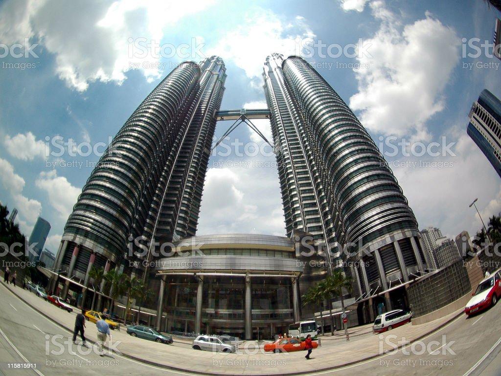 Kuala Lumpur Twin Towers 2 stock photo
