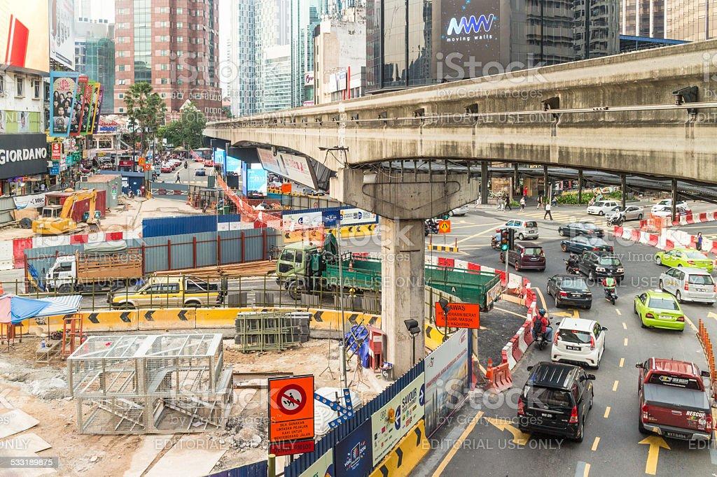 Kuala Lumpur works stock photo