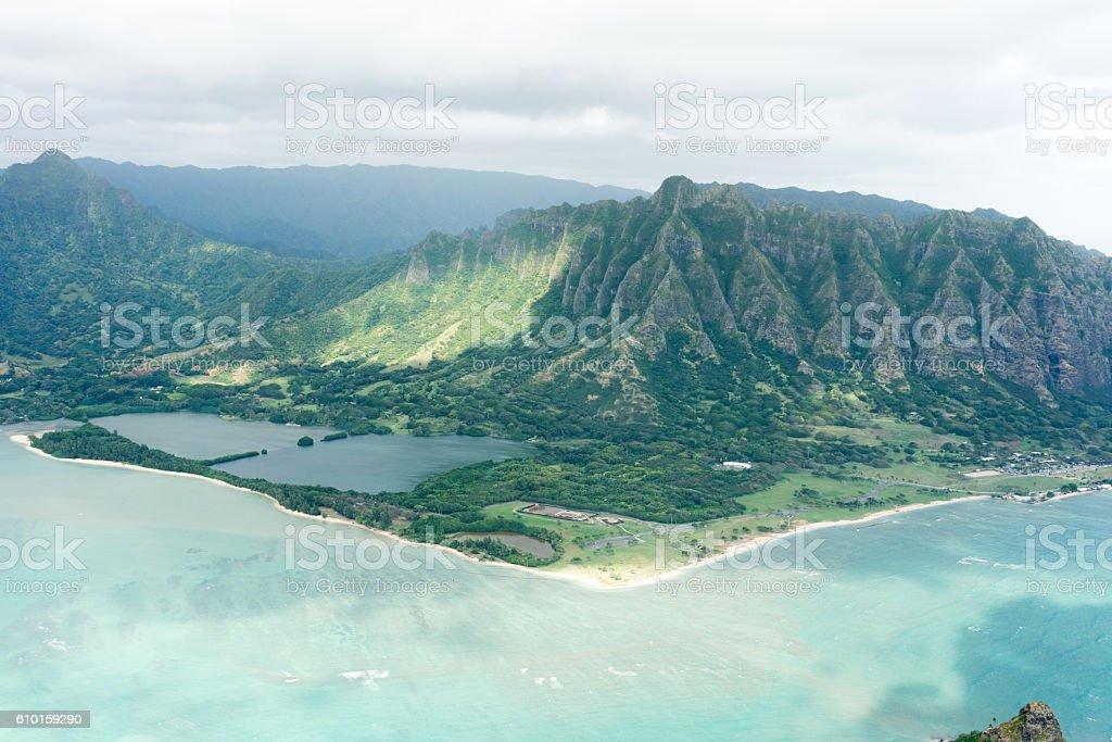 Kualoa Ranch, Oahu, Hawaii stock photo