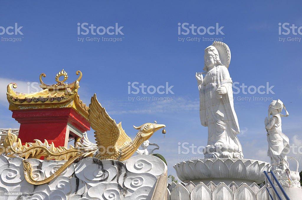 Kuan Yin image of buddha Chinese art stock photo