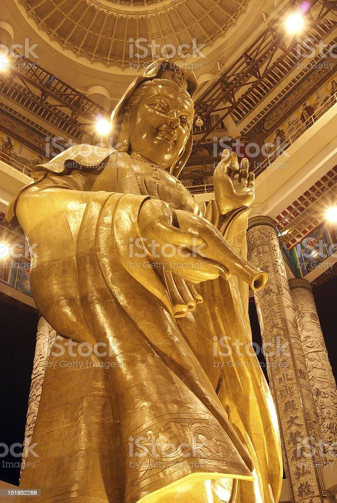 Kuan Yin Image of Buddha Statue royalty-free stock photo