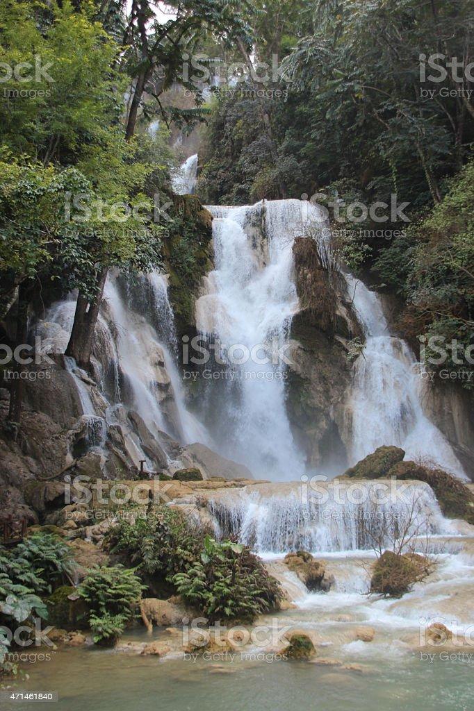 Kuang Si cascada, Luang Prabang foto de stock libre de derechos