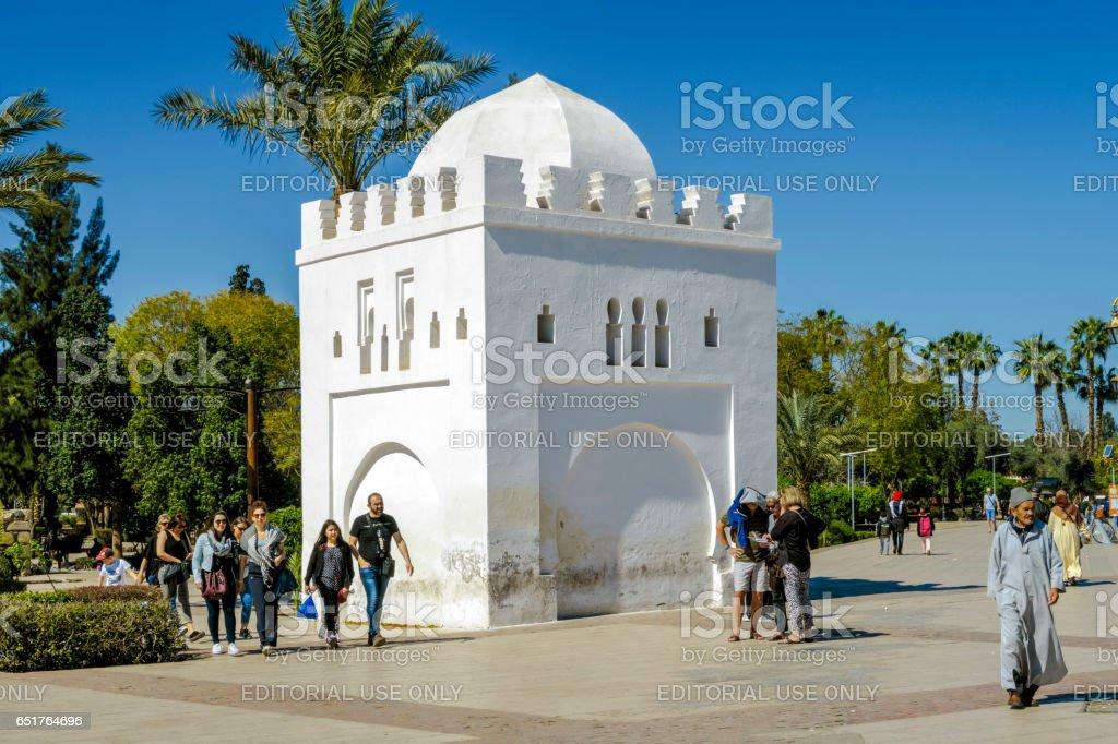 Kubba Fatima Zohra Next to the Koutoubia Mosque stock photo