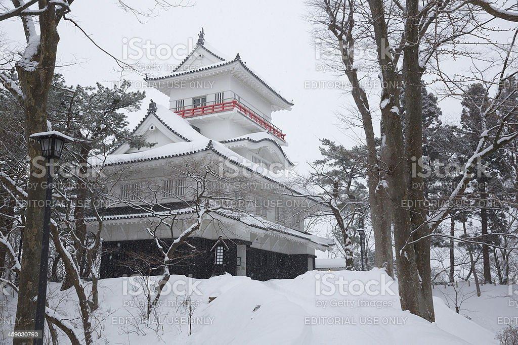 Kubota Castle in Akita, Japan stock photo