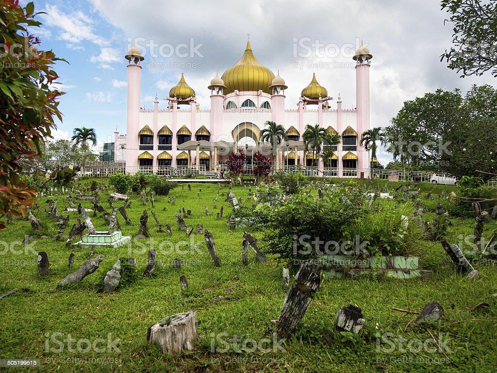 Kuching City Mosque, Sarawak State, Malaysia stock photo