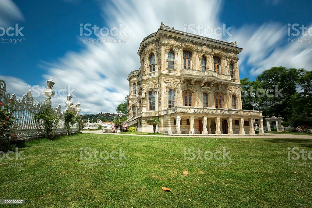 Kucuksu Palace in Istanbul City, Turkey stock photo