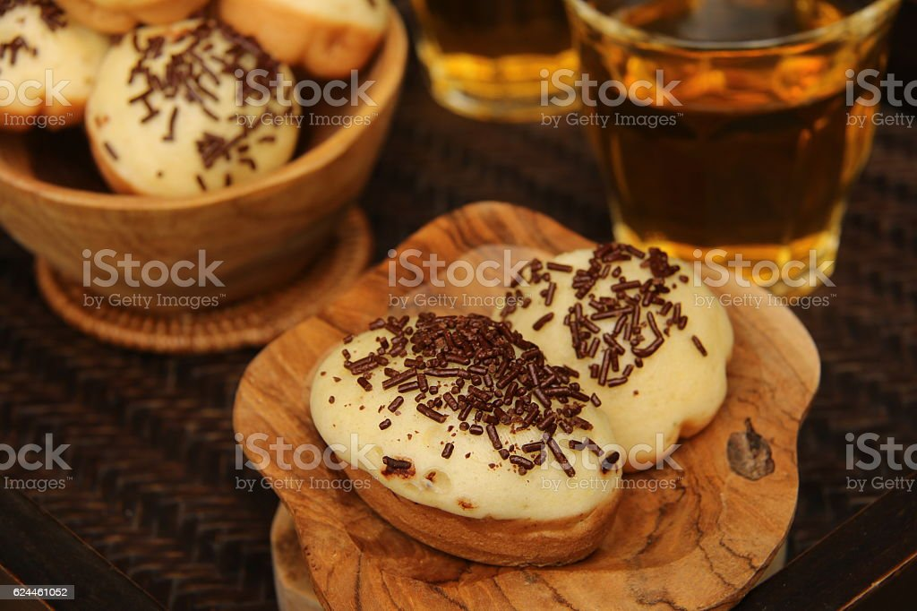 Kue Cubit Betawi for Tea Time stock photo