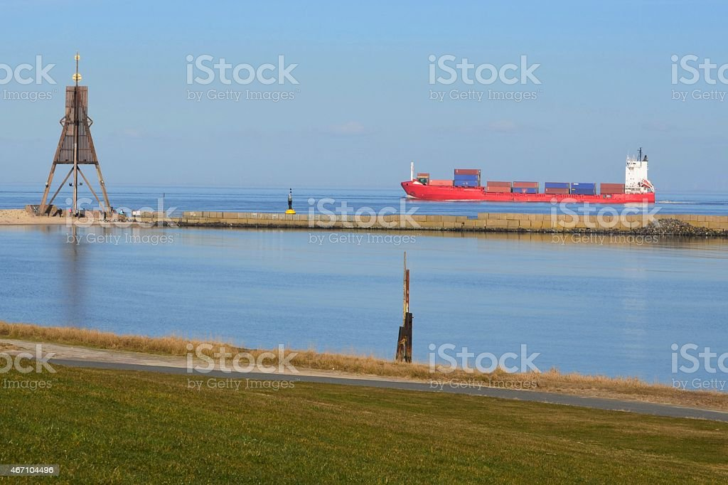 Kugelbake in Cuxhaven stock photo