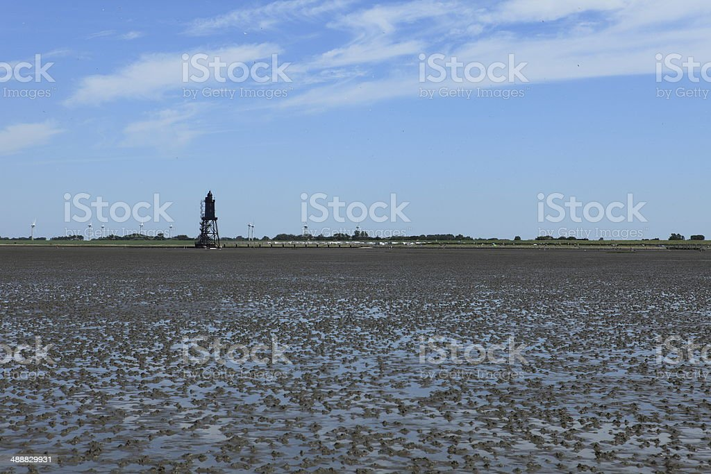 Kugelbake von Cuxhaven stock photo