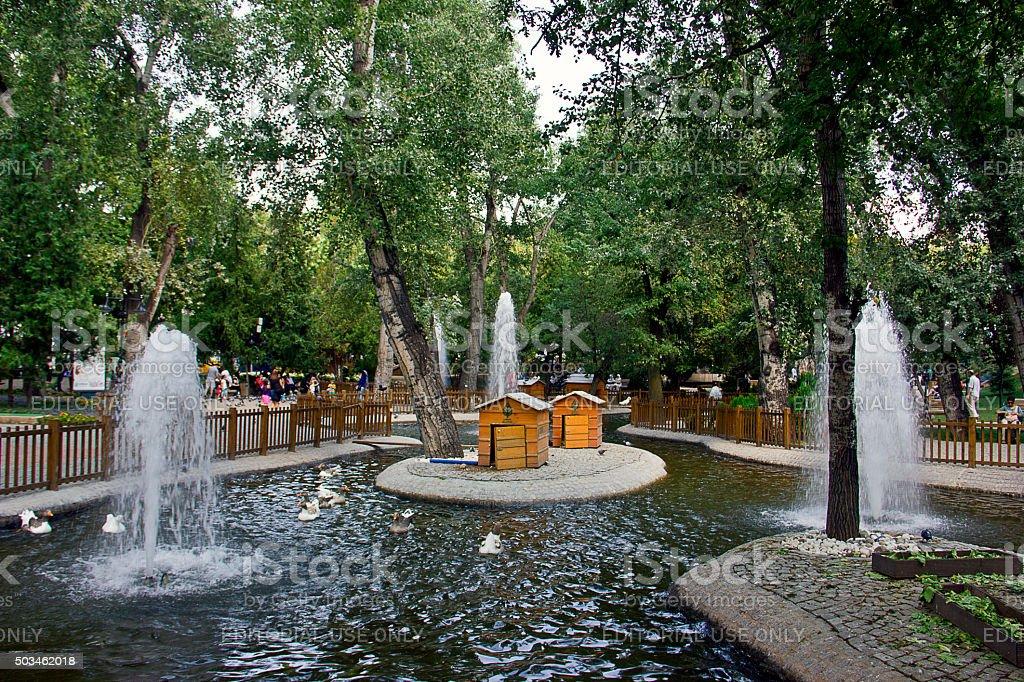 Kugulupark (Swanpark), Ankara stock photo