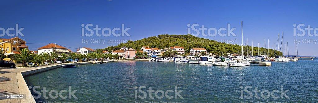 Kukljica, Island of Ugljan panoramic view stock photo