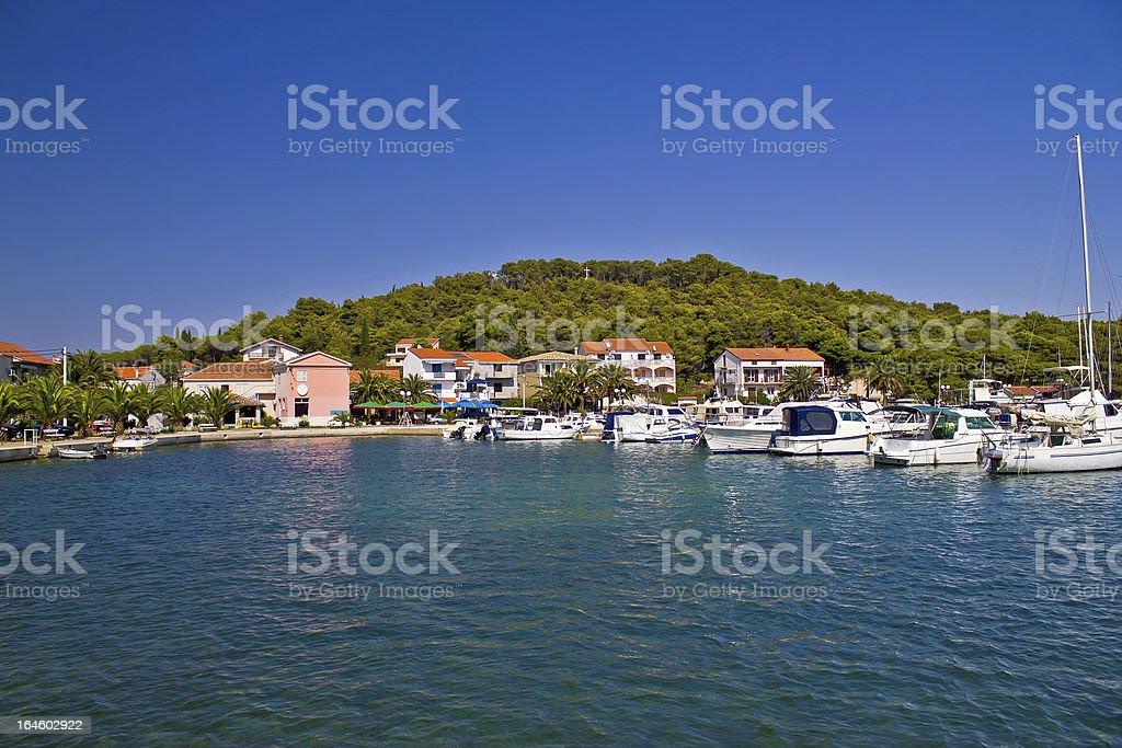 Kukljica summer destination, Island of Ugljan royalty-free stock photo