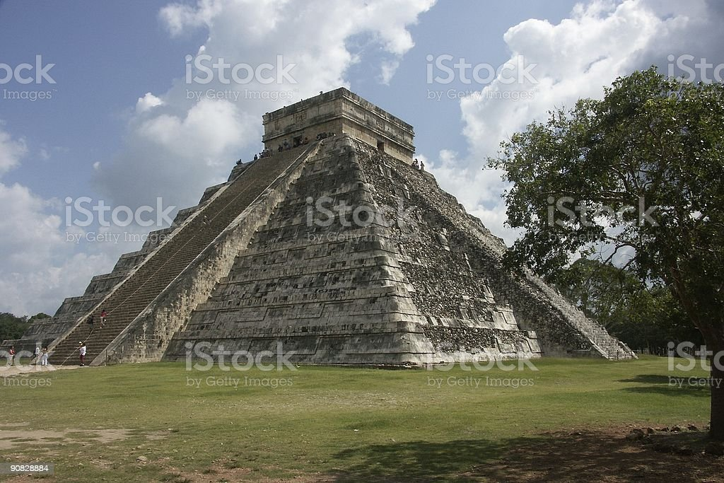 Kukulkan Pyramid, Chichen Itza royalty-free stock photo