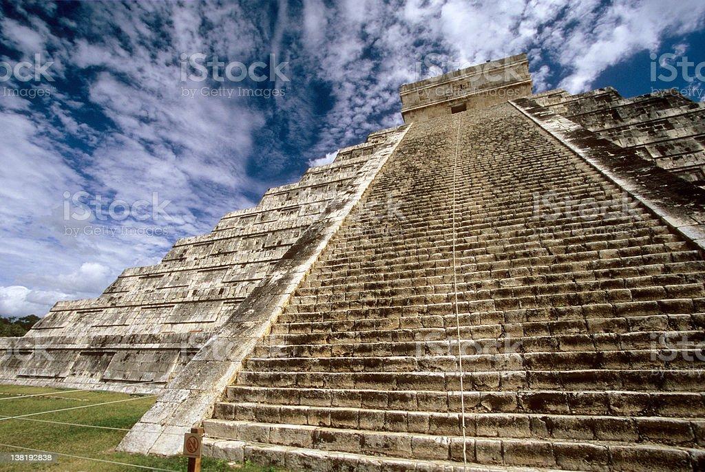 KukulKan's pyramid,Chichen-Itza. stock photo