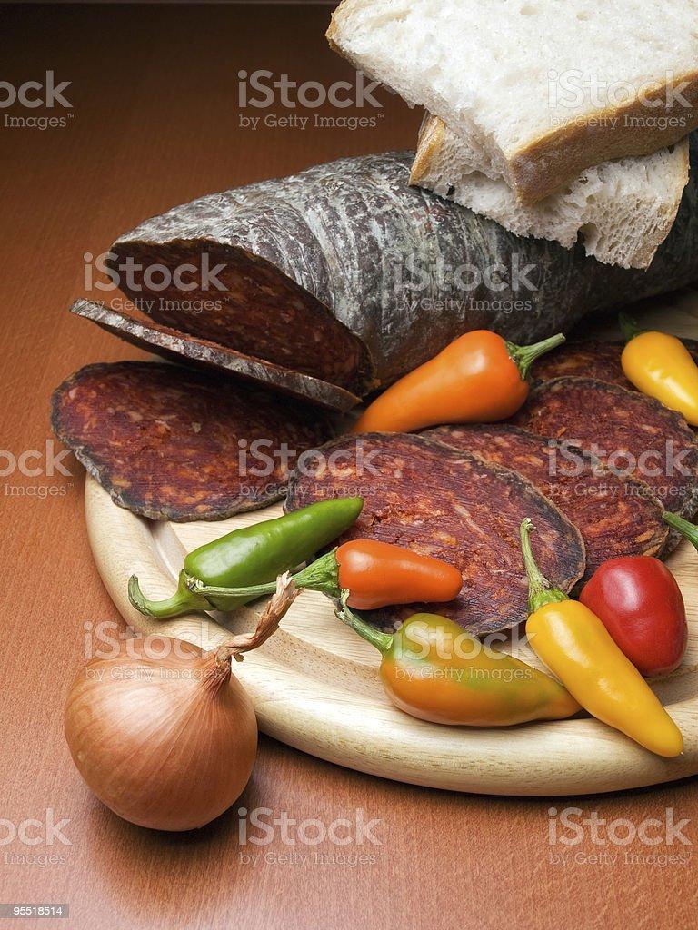 Kulen sausage royalty-free stock photo
