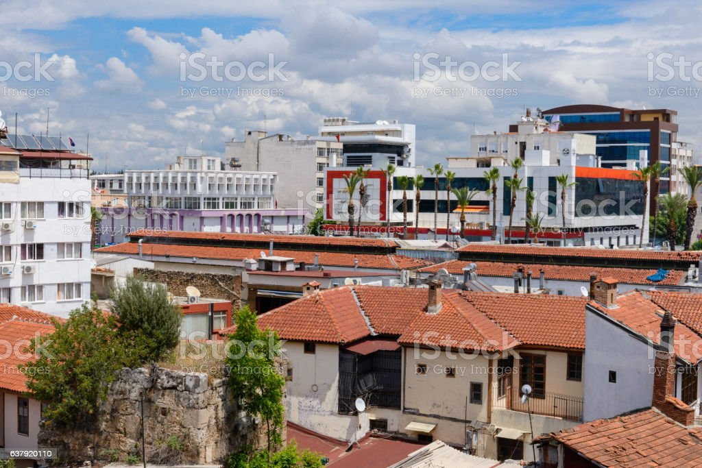 Kulesi district, Antalya city center, Turkey stock photo