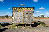 Kulgera Pub Sign, Stuart Highway, NT, Australia