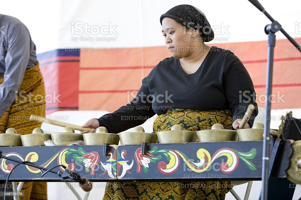 Kulintang Percussionist 1 stock photo