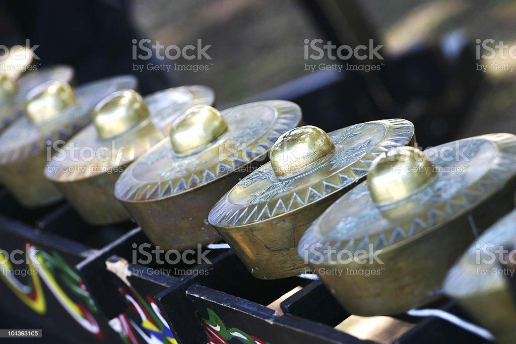 Kulintang Traditional Gongs stock photo