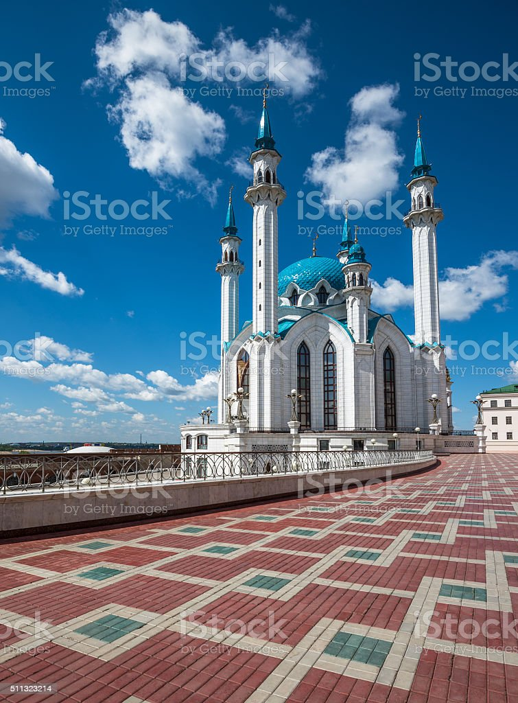 Kul-Sharif mosque in Kazan, Tatarstan, Russia stock photo