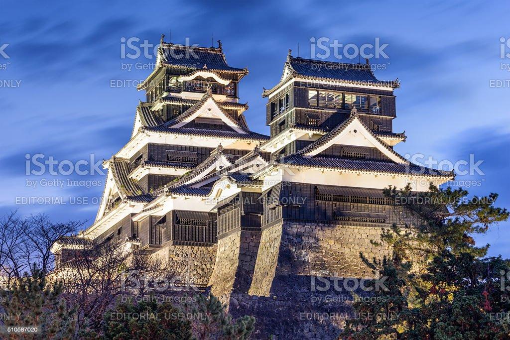 Kumamoto Castle Japan stock photo