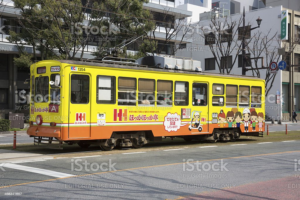 Kumamoto City Tram in Japan royalty-free stock photo