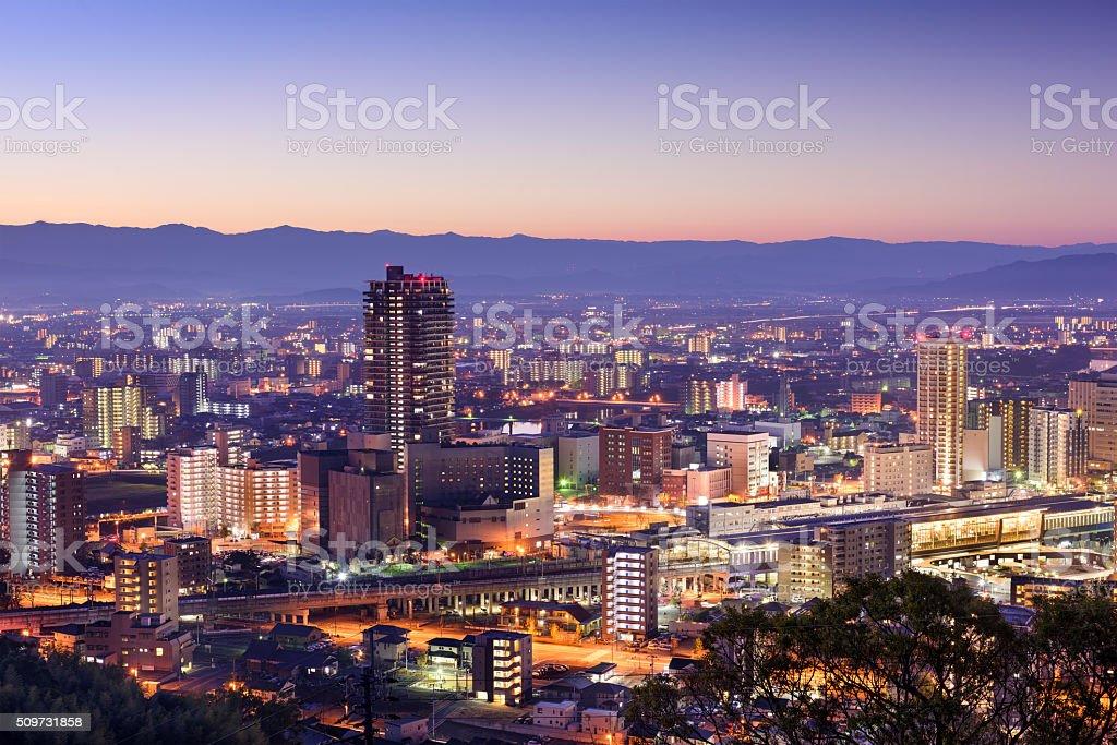 Kumamoto Japan Skyline stock photo