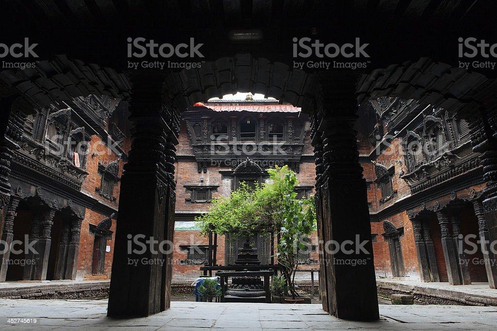 Kumari-Ghar, the home of Goddess Kumari, Kathmandu Durbar Square. stock photo