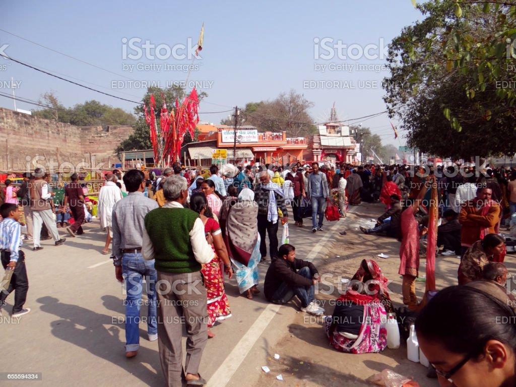 Kumbh Fair 2013, Allahabad stock photo