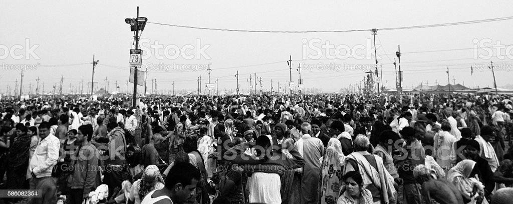 Kumbh Mela in Allahabad stock photo