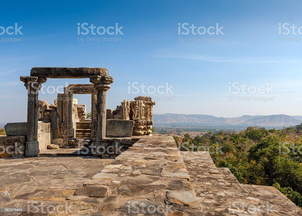 Kumbhalgarh fort complex, Rajasthan, India, Asia stock photo