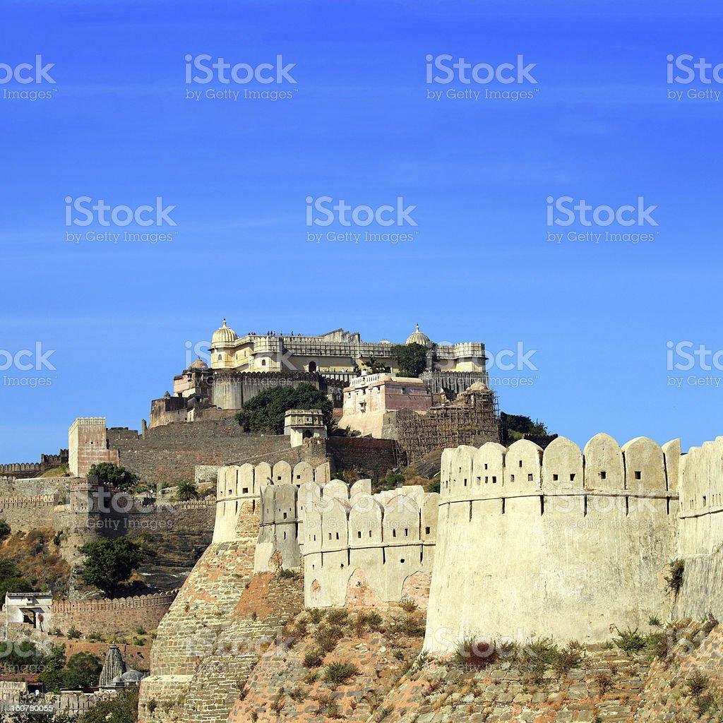 kumbhalgarh fort in india royalty-free stock photo